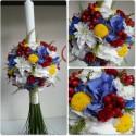 Lumanare de botez mix de flori