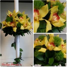 Lumanare botez orhidee Cymbidium