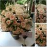 Buchet mireasa minirose si trandafiri