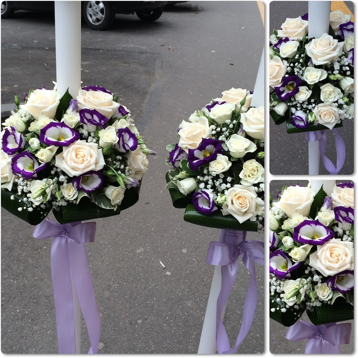 Lumanari Nunta Lisianthus Si Trandafiri Floraria Design Floral