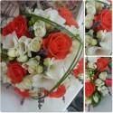 Buchet mireasa trandafiri si Lavanda