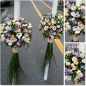 Lumanari nunta frezii lila