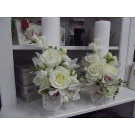Lumanari de nunta scurte orhidee