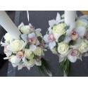 Lumanari nunta glob trandafiri si orhidee Cymbidium