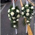 Lumanari de nunta clasice trandafiri albi