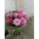 Buchet trandafiri mov