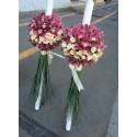 Lumanari nunta orhidee si minirose