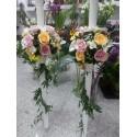 Lumanari de nunta trandafiri pastelati