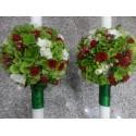 Lumanari nunta Hortensie verde