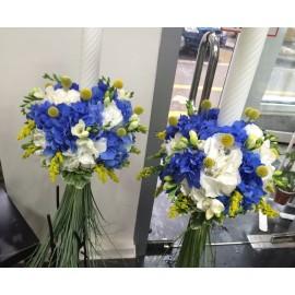 Lumanari de nunta Hortensie albastra