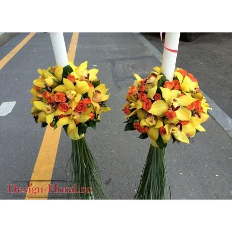 Lumanari de nunta orhidee
