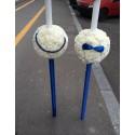 Lumanari nunta Dianthus alb
