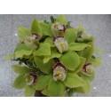Buchet nunta orhidee verde