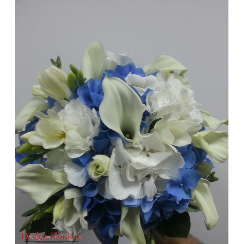 Buchet Mireasa Hortensie Si Cale Floraria Design Floral Florarie