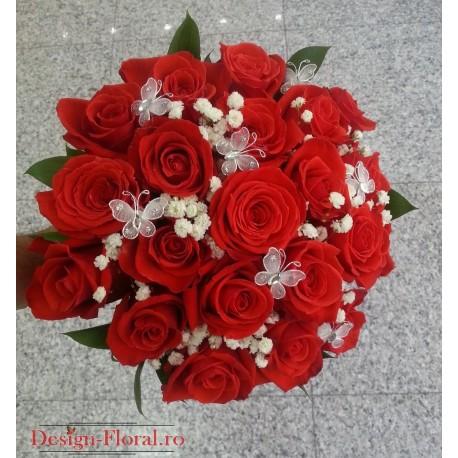 Buchet mireasa trandafiri Wow