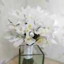 Buchet mireasa iris alb