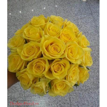 Buchet nasa trandafiri galbeni