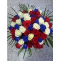 Buchet floral trandafiri albastrii