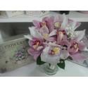Buchet mireasa orhidee si floarea miresei