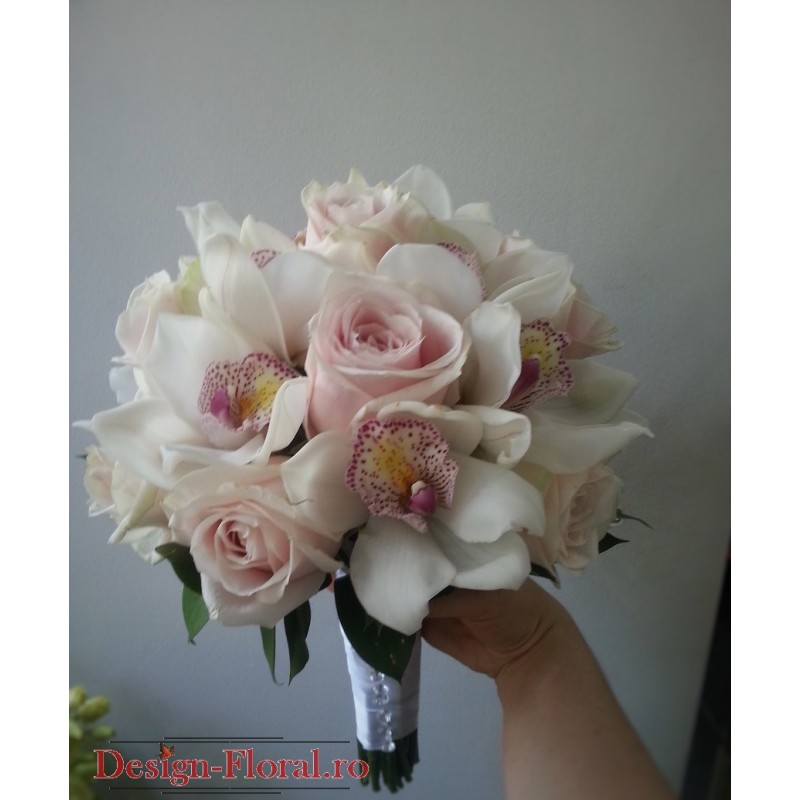 Buchet Mireasa Trandafiri Si Orhidee Imperiala Floraria Design