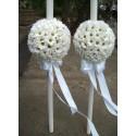 Lumanari nunta glob margarete si accesorii
