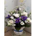 Cos floral trandafiri si iris