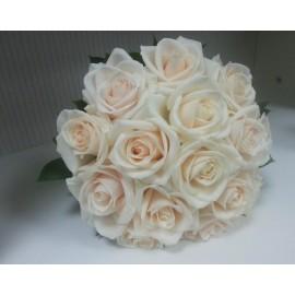 Buchet mireasa trandafiri crem