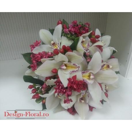Buchet mireasa orhidee imperiala