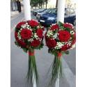 Lumanari nunta trandafiri si Bouvardia
