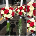 Lumanari nunta trandafiri si Hypericum