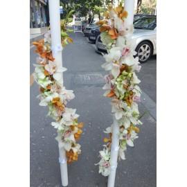 Lumanari nunta ghirlanda orhidee