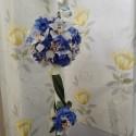 Lumanare botez hortensie si orhidee