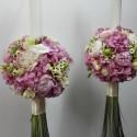 Lumanari nunta bujori si Hortensie