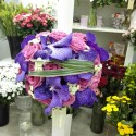 Lumanari nunta orhidee Vanda si trandafiri