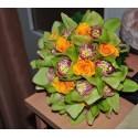 Buchet nunta orhidee imperiala verde