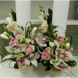 Lumanari nunta scurte orhidee