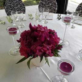 Aranjament masa hortensie cyclam