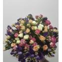 Buchet floral minirose si lisianthus