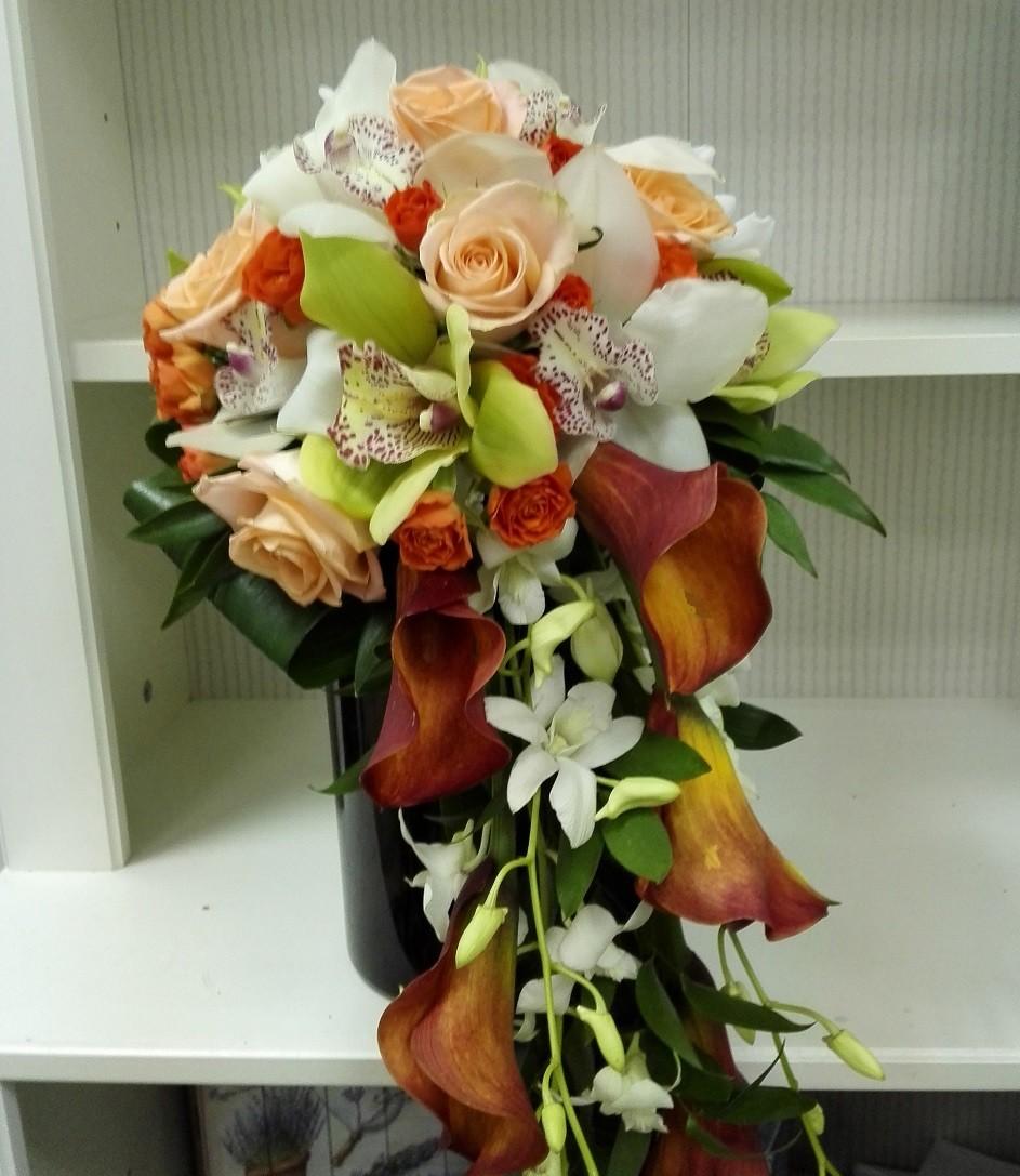 Buchet Mireasa Curgator Orhidee Si Cale Floraria Design Floral