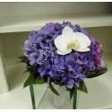 Buchet mireasa Hortensie si phalaenopsis