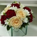 Buchet cununie trandafiri grena