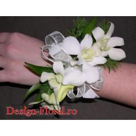 Corsaj din orhidee Dendrobium