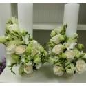 Lumanari nunta scurte lisianthus si frezii