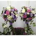 Lumanari nunta brunia si trandafiri