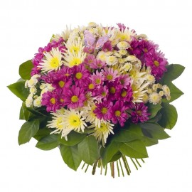 "Buchet "" White& Purple"""