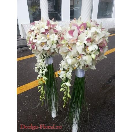 Lumanari nunta mix de orhidee