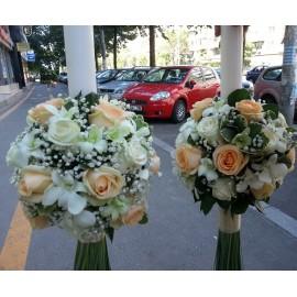 Lumanari nunta trandafiri si orhidee