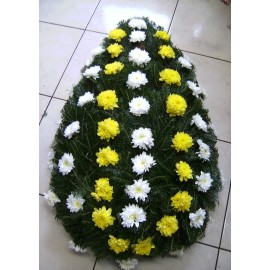 Coroana funerara crizanteme