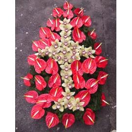 Coroana funerara impresionanta Anthurium