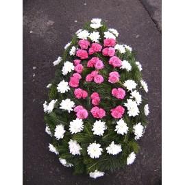 Coroana funerara minirose si crizanteme
